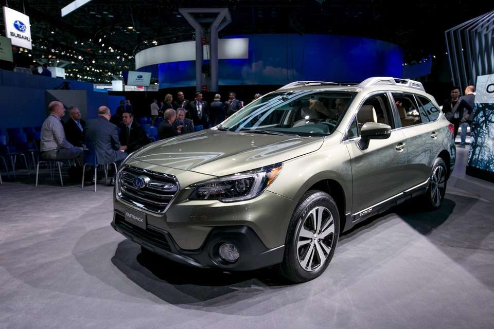 The Subaru Outback on display at the New
