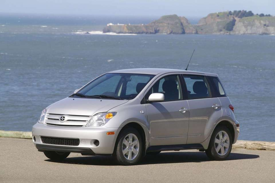 The 2004 Scion xA is shown in this