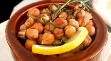 Revithada (Santorini-style oven-baked chickpeas) were on the menu