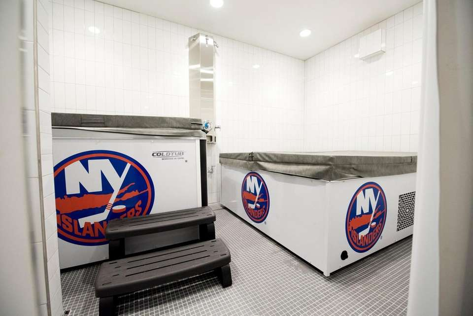 The redone Islanders locker room during an unveiling