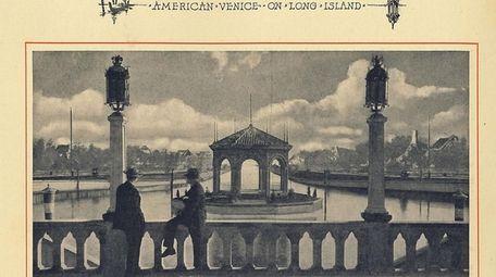 Looking across the Laguna San Marco, circa 1920s.