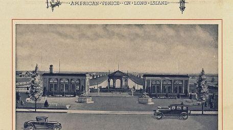 The main entrance, circa 1920s.