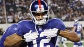 Giants wide receiver Steve Smith celebrates a touchdown