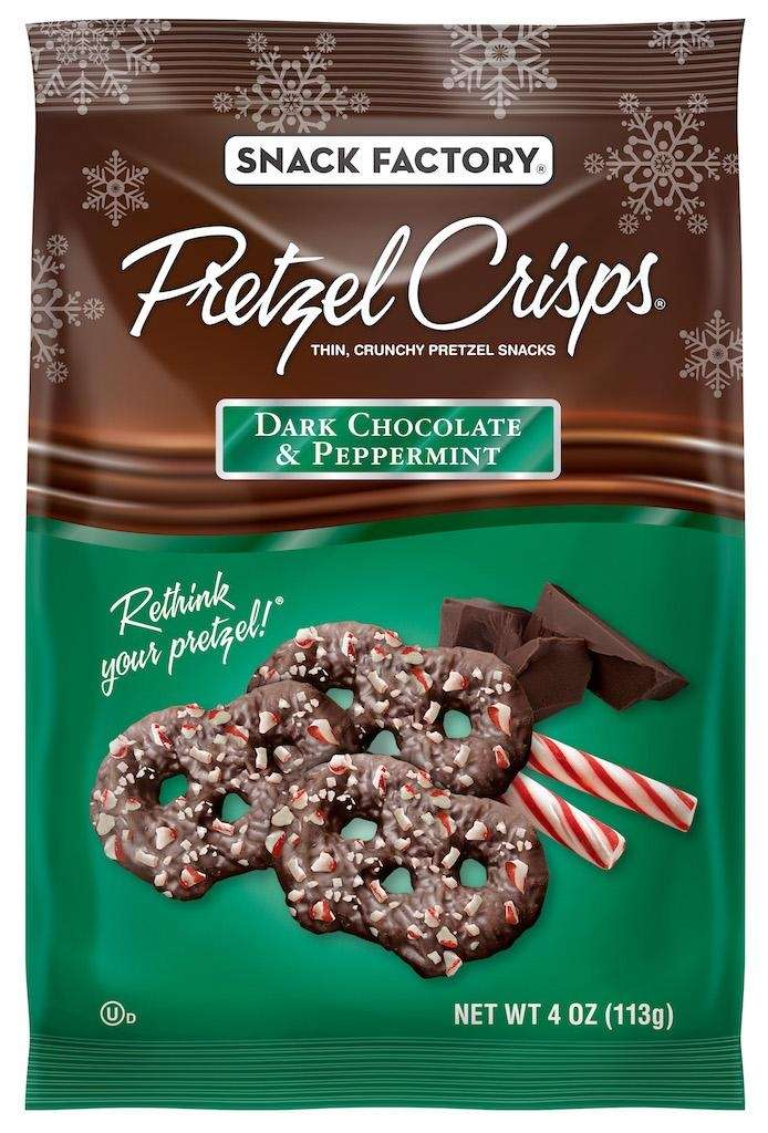 Celebrate the season with pretzels crisps that have