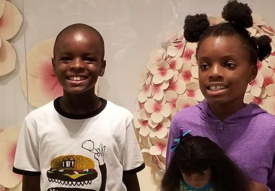 Oluwarotimi Fajolu, 8, and Oluwafunmilayo Fajolu, 10, from