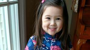 Aimei Aige, 4, from Huntington