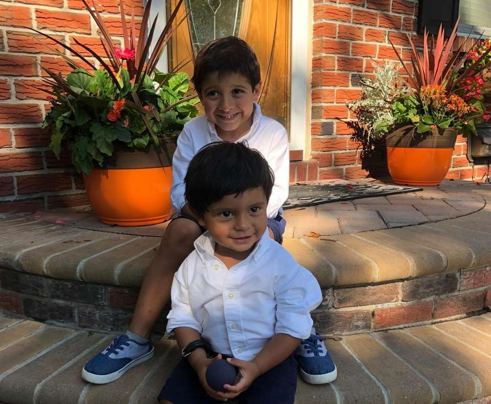 Eros Sorrentino, 4, and Tiziano Sorrentino, 2, from