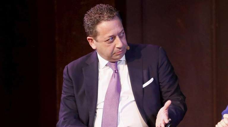 "Felix Sater, onstage during the ""Trump, Inc."" panel"
