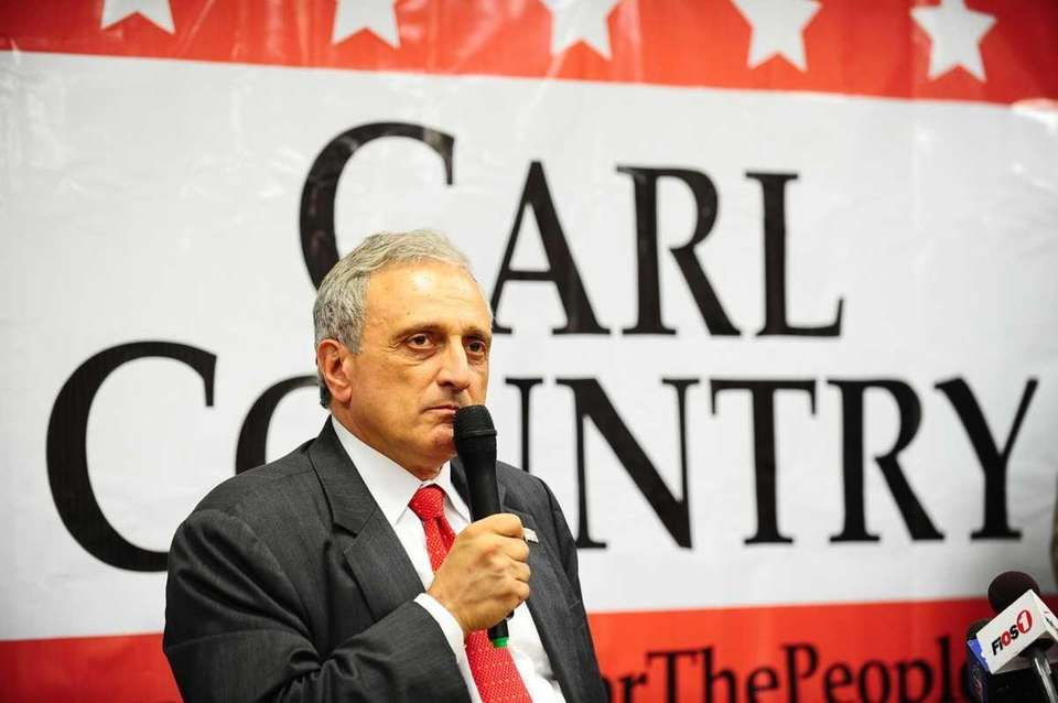 GOP gubernatorial candidate Carl Paladino speaks to a