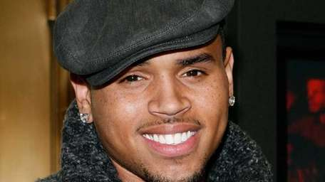 Chris Brown attends the curtain call on the
