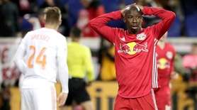 Red Bulls forward Bradley Wright-Phillips reacts during the