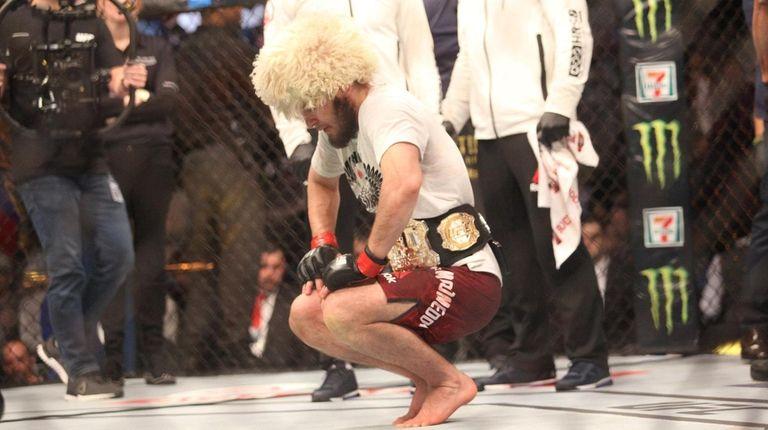 Khabib Nurmagomedov won the lightweight title at UFC