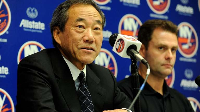 New York Islanders hockey owner Charles Wang answers