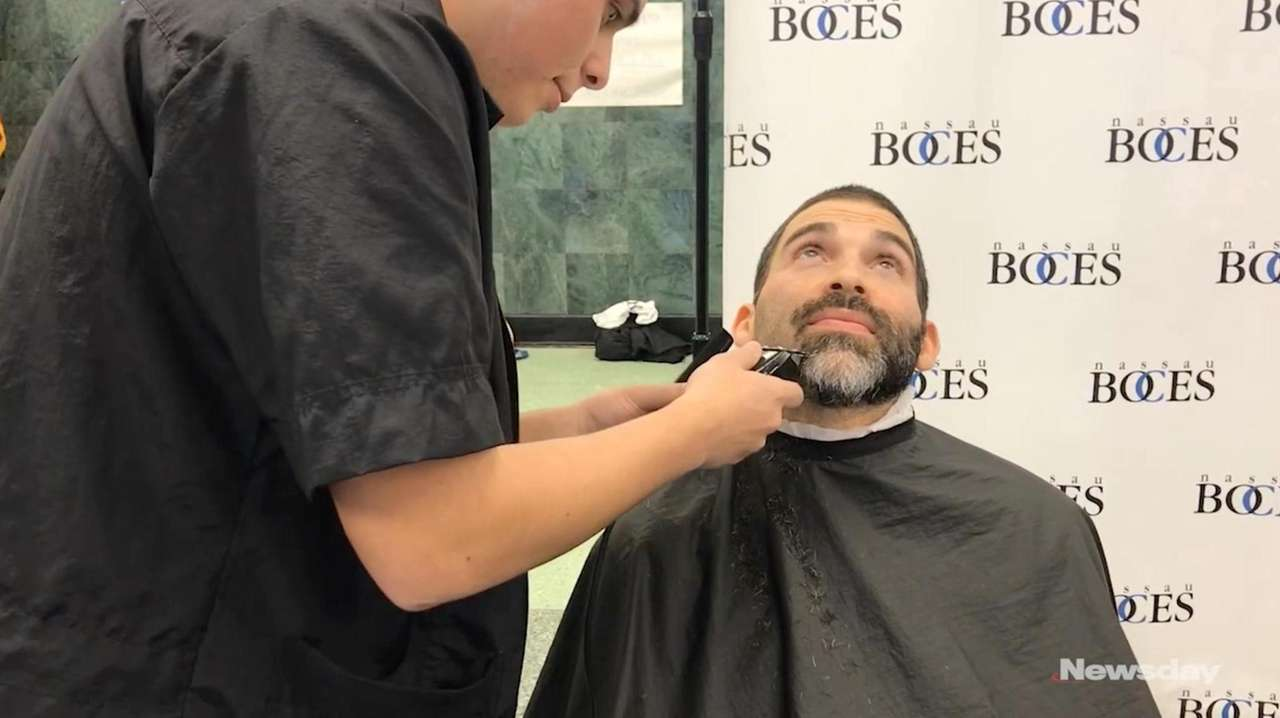 On Friday, high school students shaved the faces