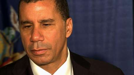Governor David Paterson speaks at Aqueduct race track,
