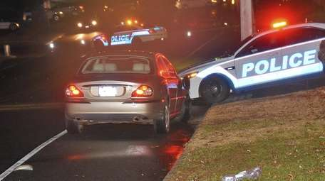 Suffolk police investigate a crash in Commack on