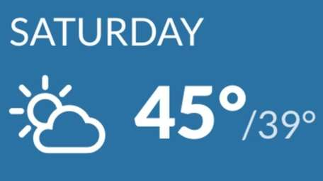 Cloudy skies with highs in the mid to