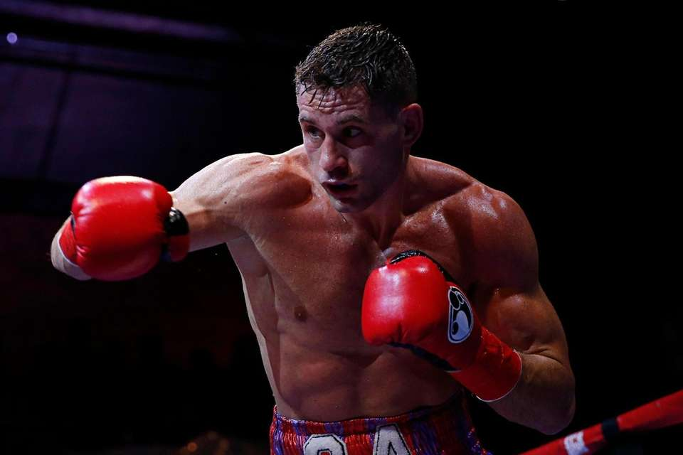 Chris Algieri in action during the boxing match