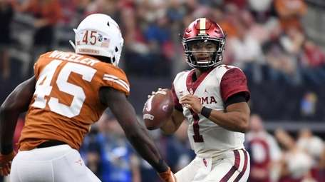 Oklahoma and quarterback Kyler Murray, shown here during