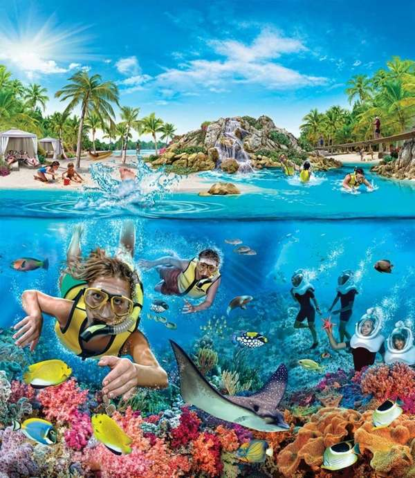 Opening in June 2011, The Grand Reef at