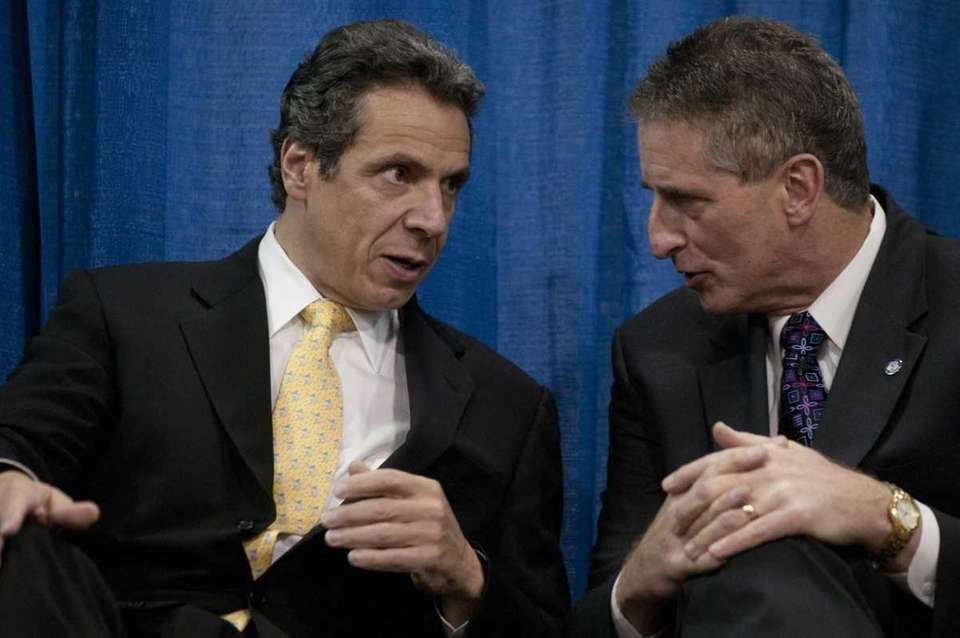 New York State gubernatorial candidate Andrew Cuomo speaks