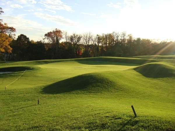 The new green on Hole No. 6 at
