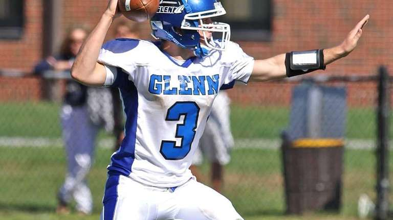 Glenn quarterback Ryan Rielly prepares to throw against