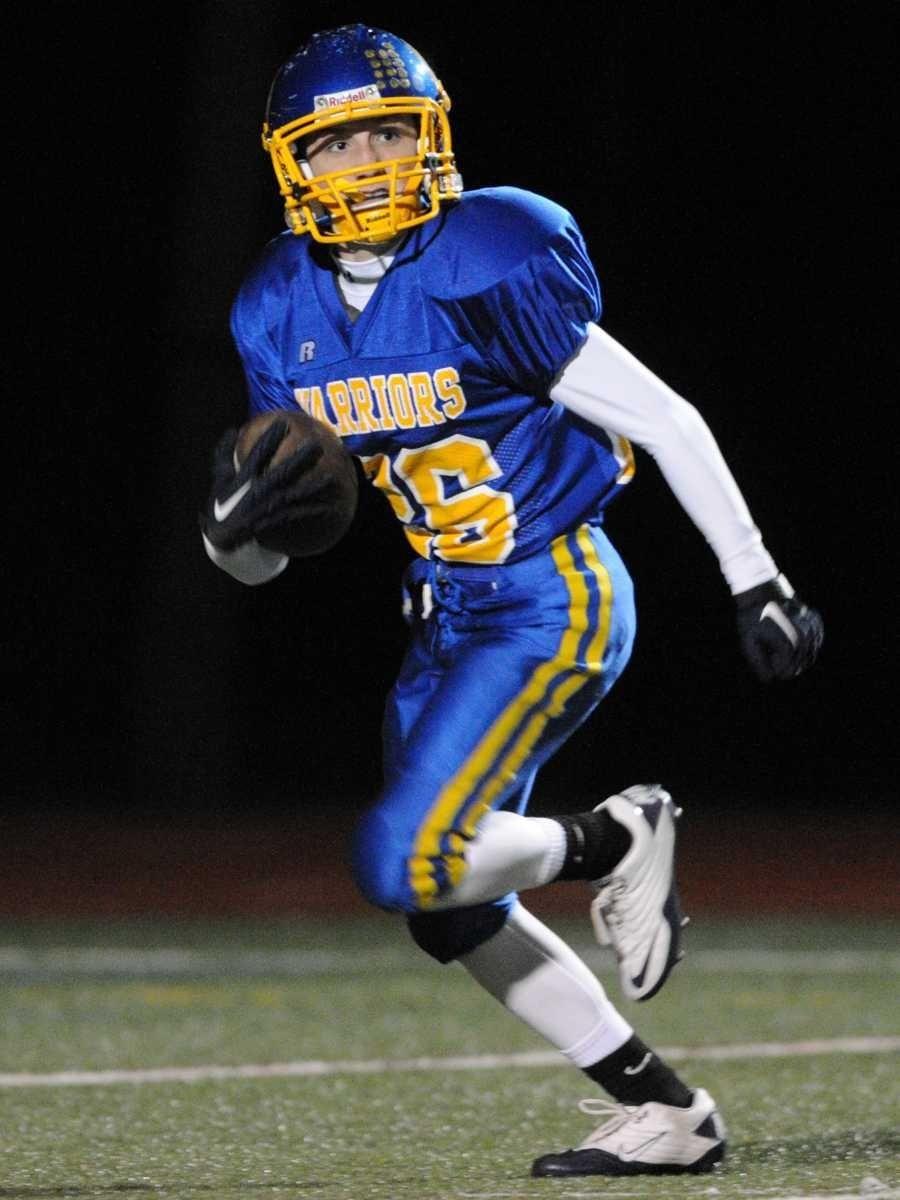 Comsewogue High School #26 Dylan Davanzo returns a