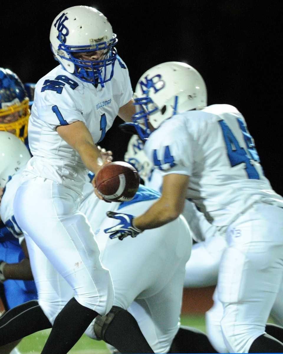 North Babylon High School quarterback #1 Brian Kennedy,