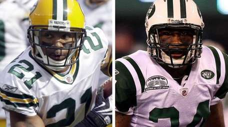 Charles Woodson (left) and Darrelle Revis will share