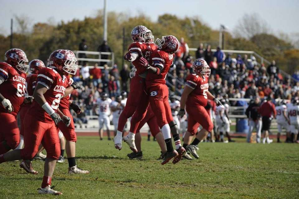 Bellport's Travis Houpe (left) and Nate Chavious (right)