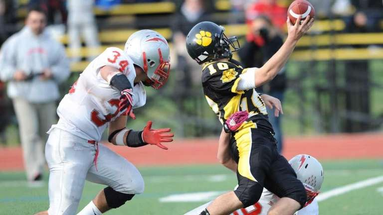 Connetquot's #34 Mike Pellegrino, left and #23 Ryan
