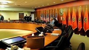 The Nassau County Legislature prepares to meet Saturday