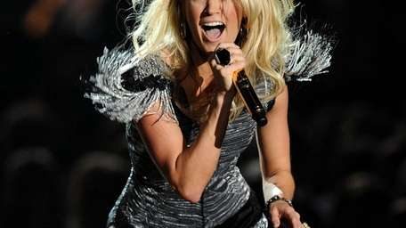 Singer Carrie Underwood performs onstage at the 2010