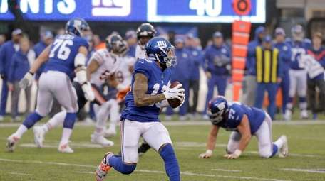New York Giants wide receiver Odell Beckham prepares