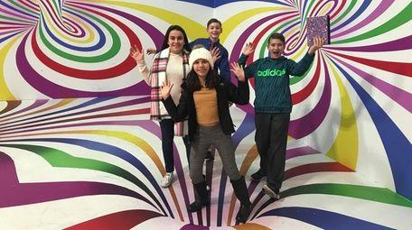 Kidsday reporters Gianna Donofrio, left, Samantha DeRosa, Nicholas