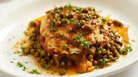Moussaka, well-seasoned and aromatic, is among the Greek