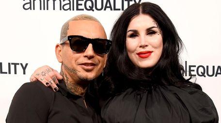 Tattoo artist Kat Von D and her musician
