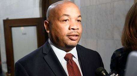 New York Assembly Speaker Carl Heastie of the