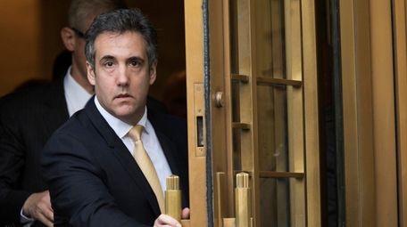 The judge sentencing Michael Cohen, seen in August,