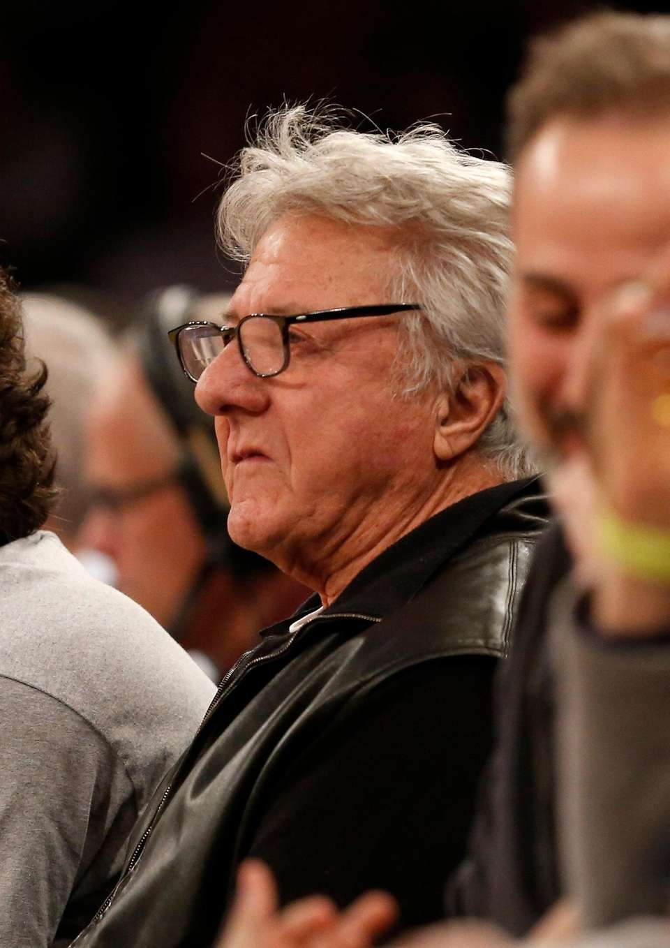 Actor Dustin Hoffman attends a game between the