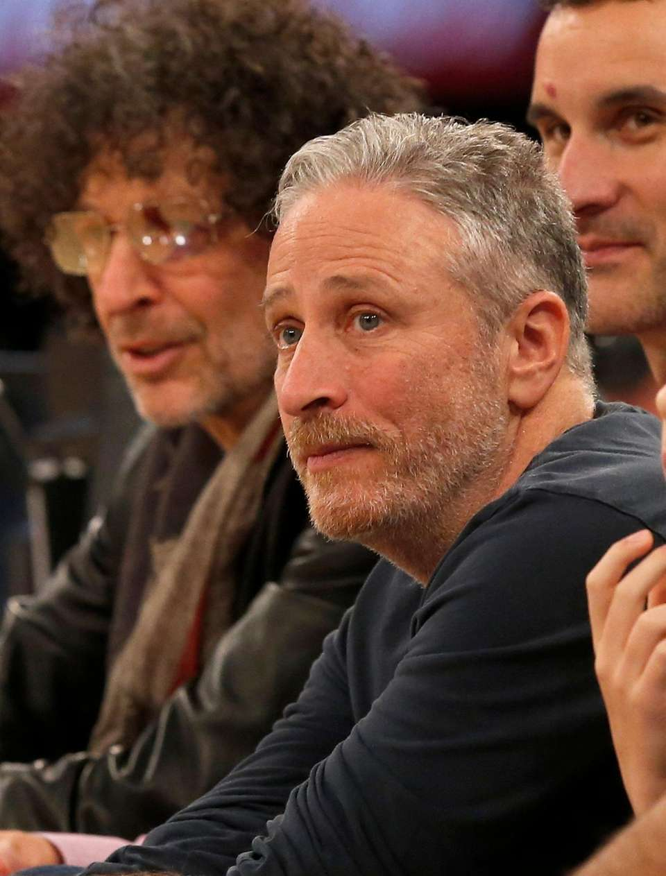 Television personality Jon Stewart attends a game between