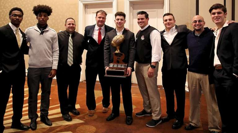 The Rutgers Trophy was presented to Half Hollow