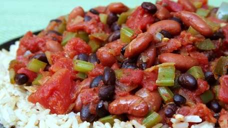 Meatless rice and beans