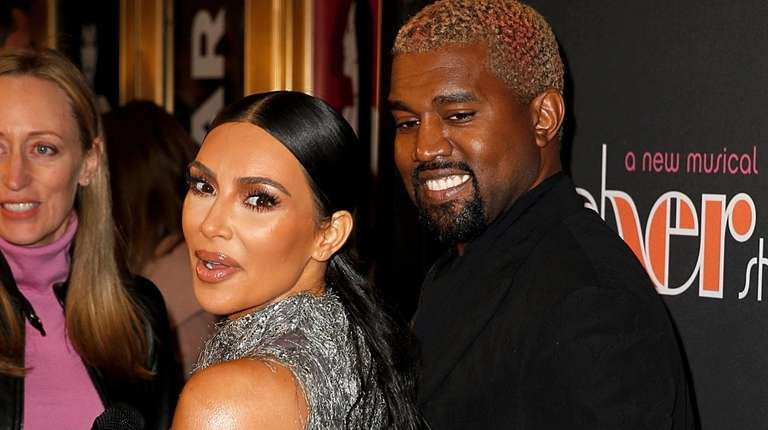 Kim Kardashian West and Kanye West attend the