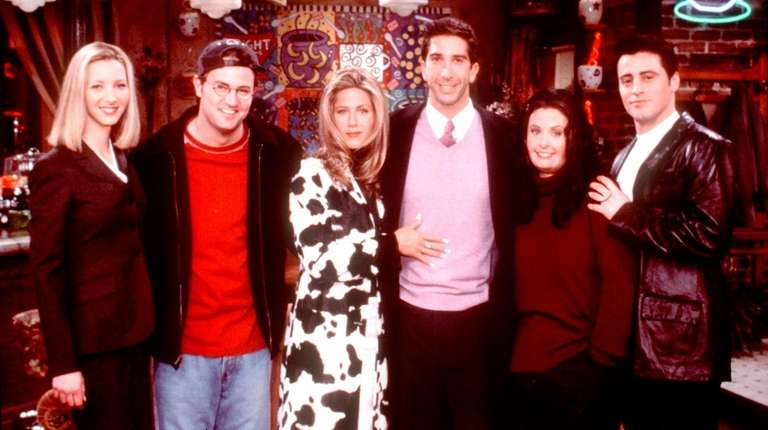 "The ""Friends"" cast: Lisa Kudrow, Matthew Perry, Jennifer"