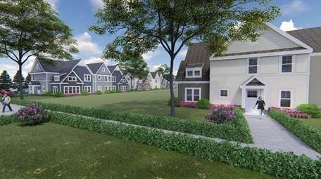A rendering of the Bellport Residences, a proposed