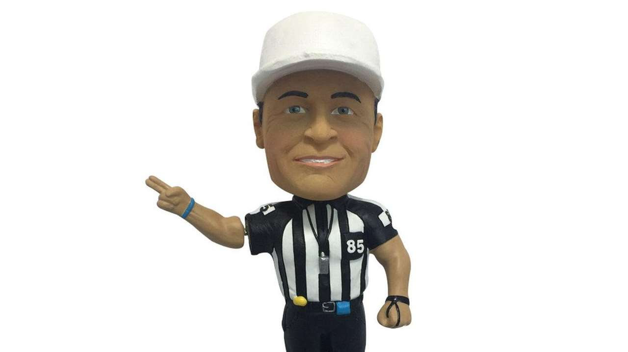 The Ed Hochuli bobblehead, which was produced by