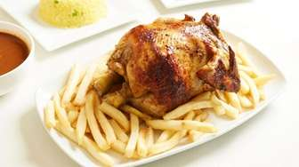 The rotisserie chicken combo #2 comes with fried,