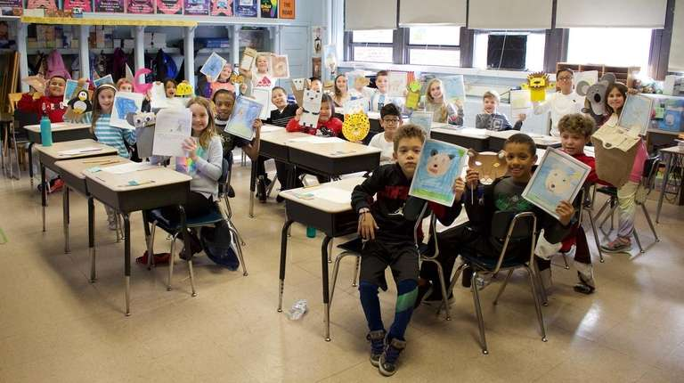 Third-graders at Centre Avenue Elementary School in East
